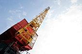 Crane above construction sites