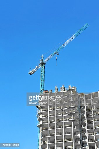 Crane and construction site : Stock Photo