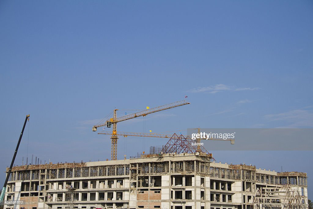 Kran auf Baustelle : Stock-Foto