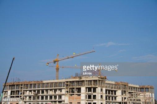 Gru sul Cantiere di costruzione : Foto stock