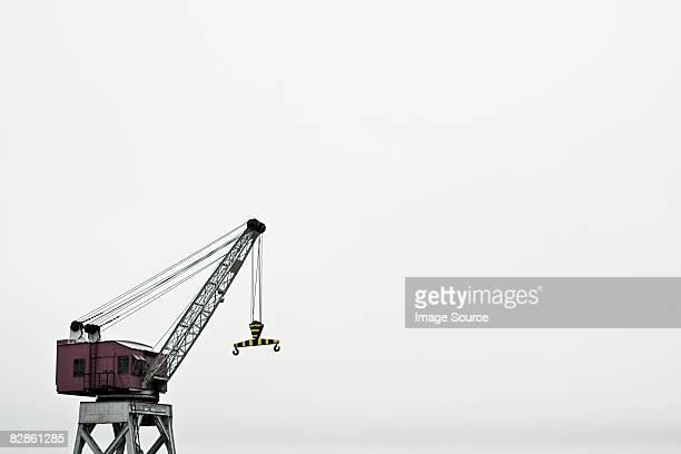 Crane at harbour
