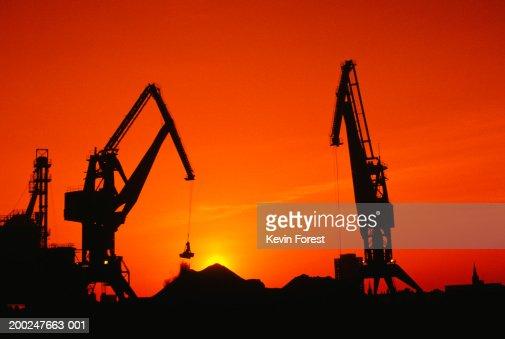 Crane Hauling Coal, Duisberg, Germany