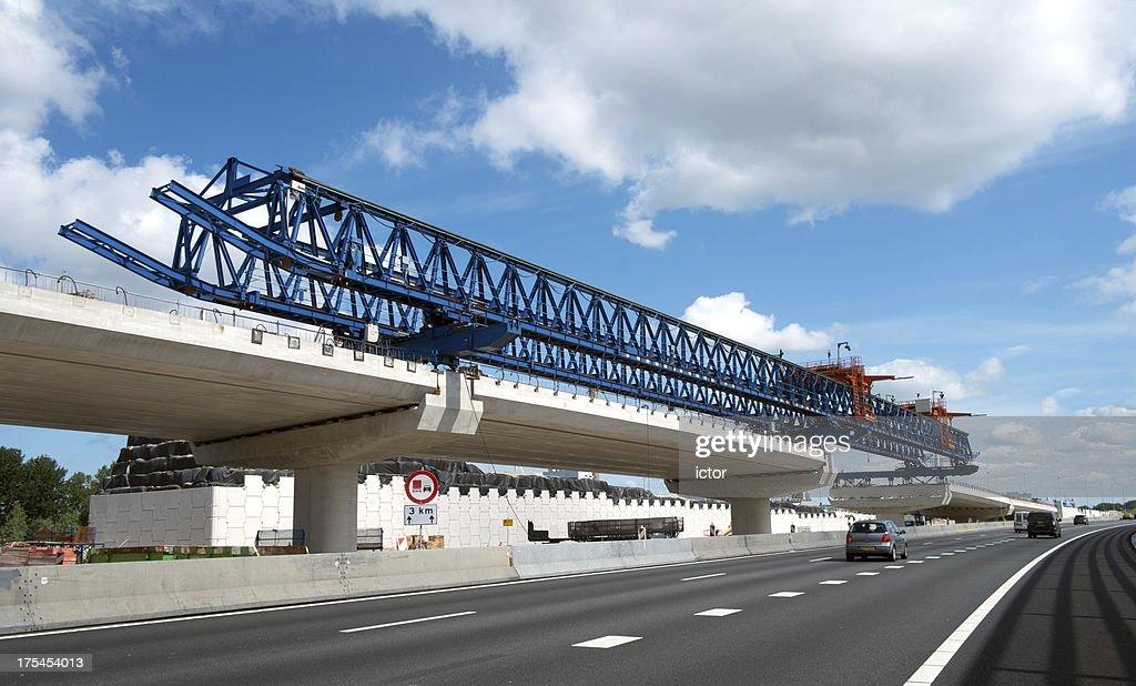 Crane used for highway bridge construction