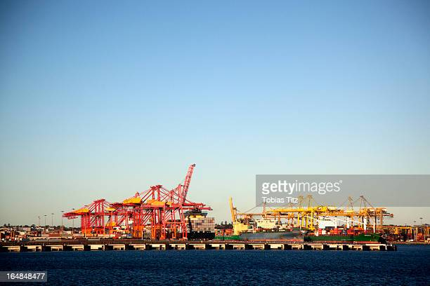 Cranes on a commercial dock