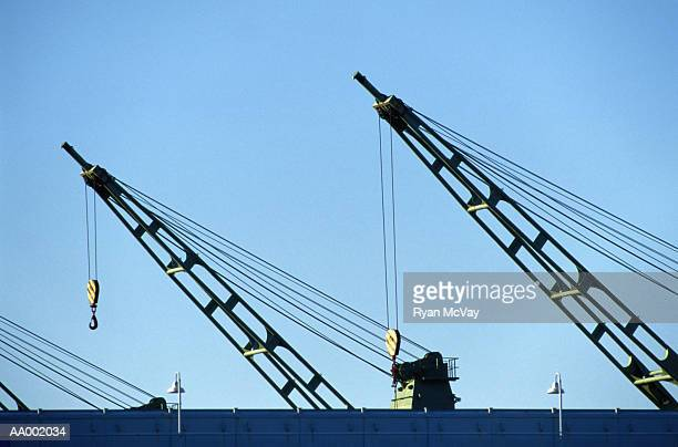 Cranes on a Container Ship