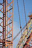 Cranes on building site