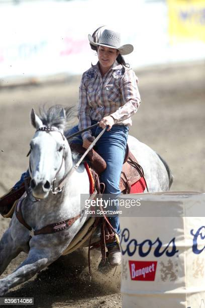 Cranna Roberts from Lacombe AB scored a 1807 in the Slack Barrel Racing competition on August 25 2017 at the Kitsap County Fair and Stampede in...