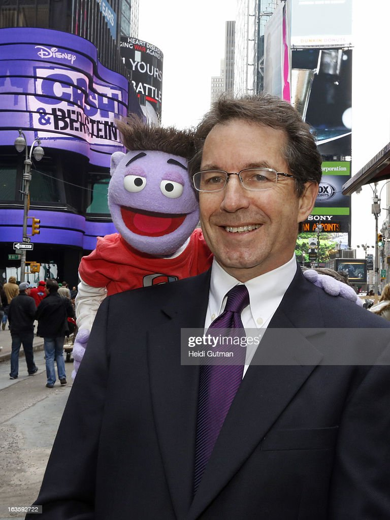CORPORATE - Crash and Gary Marsh, President and Chief Creative Officer, Disney Channels Worldwide visit world-famous Times Square, while in town for Disney's Kids Upfront 2013-14 at the Hudson Theatre at Millennium Broadway Hotel in New York (March 11). CRASH, GARY