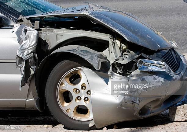 Crashed Car Silver