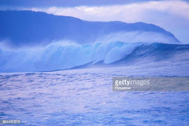 Crashing Surf on Oahu Coast