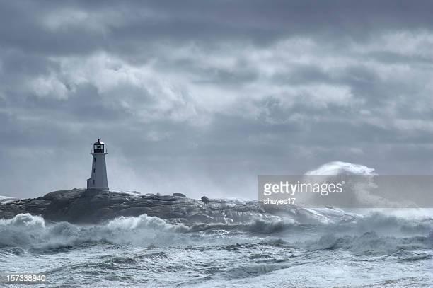 Crashing wave lighthouse