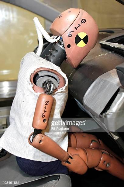 A crashtest dummy is displayed at Takata's current crashtesting facility August 19 2010 in Auburn Hills Michigan Takata dedicated a new hightech...