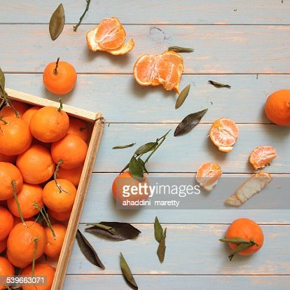 Stack of sweet tangerines