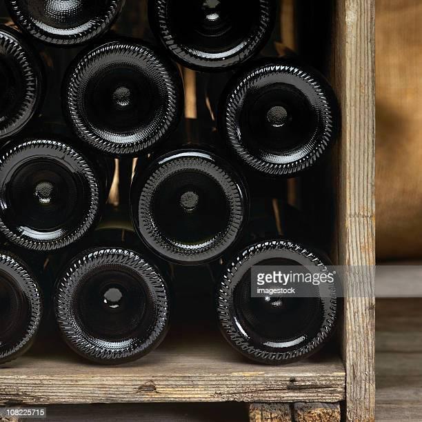Caisse de bouteilles de vin