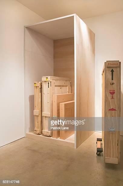 Crated Artwork in an Art Gallery