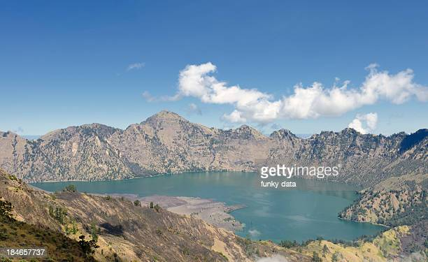 Lac de cratère de volcan Rinjani