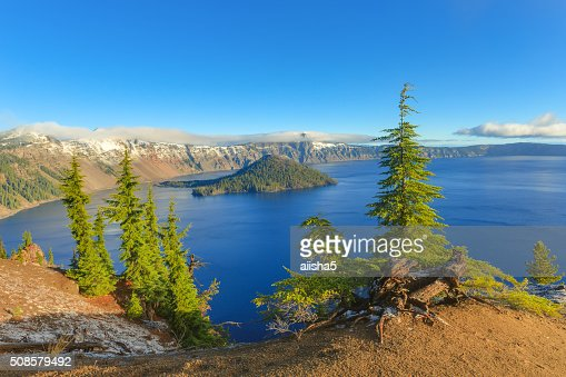 Crater lake view : Stockfoto