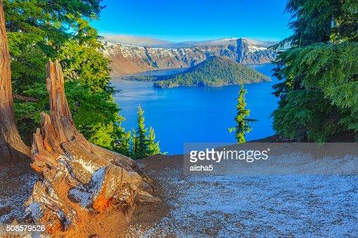 Crater lake view : Stockfoto