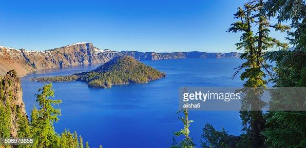 Crater vue sur le lac : Photo