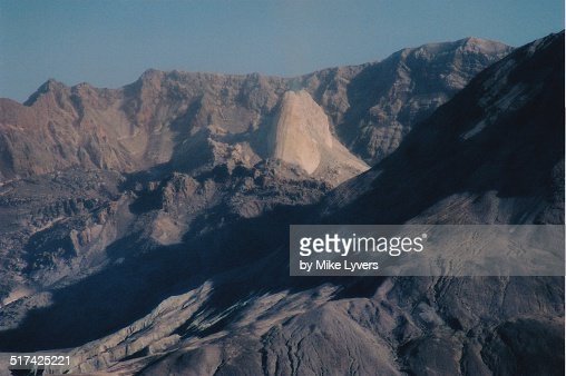 Crater of Mt. St. Helens with active lava dome