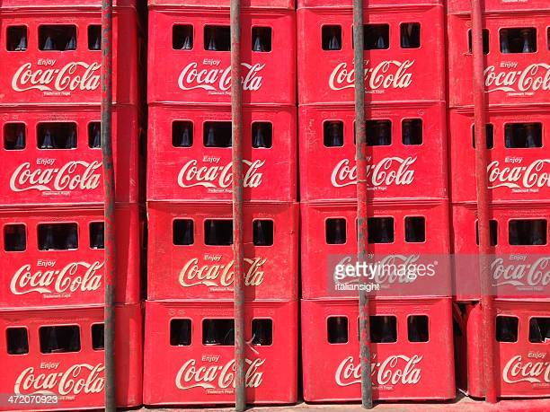 Crates of Coca-Cola on a Delivery Truck.