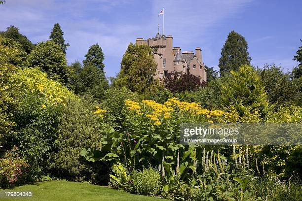Crathes Castle and gardens Banchory Aberdeenshire Scotland United Kingdom