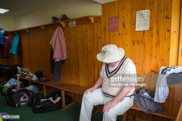 A Craven Cavalier player pauses inside the away team changing room at Lynton Lynmouth Cricket Club before their annual friendly match at the club...