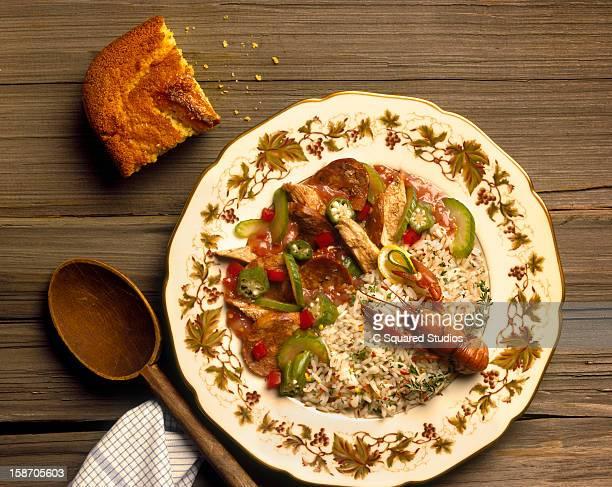 Craw fish, jamalaya