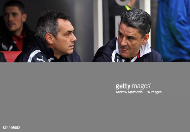 Crawley Town Firstteam coach Guy Whittingham and manager John Gregory