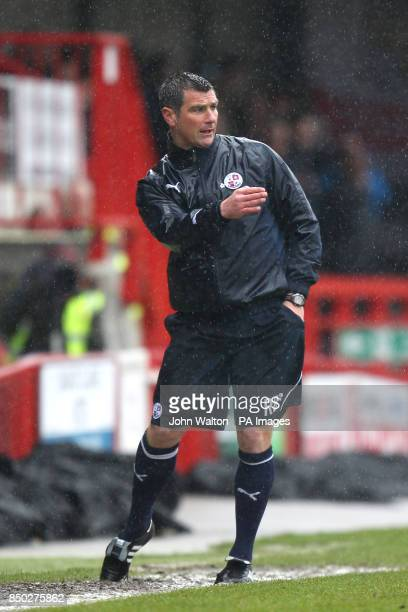 Crawley Town manager Richie Barker gestures on the touchline