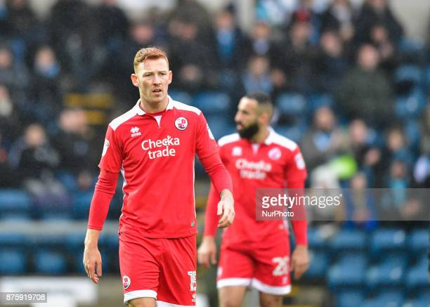 Crawley Town's Josh Yorwerth during Sky Bet League two match between Wycombe Wanderers against Crawley Town at Adams Park Wycombe England on 18 Nov...