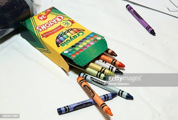 Crayola crayons are displayed at The MOMS New York Family Magazine Cover Party at 100 Barclay on August 16 2016 in New York City