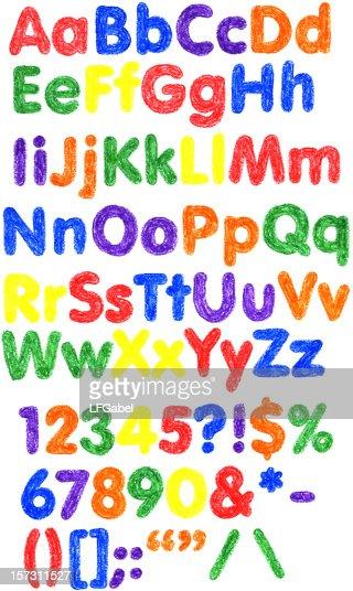 Crayon Alphabet XXL