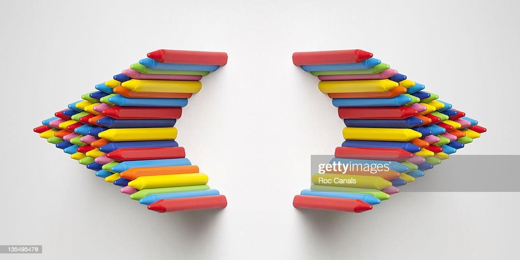Crayon colors parentheses : Stock Photo