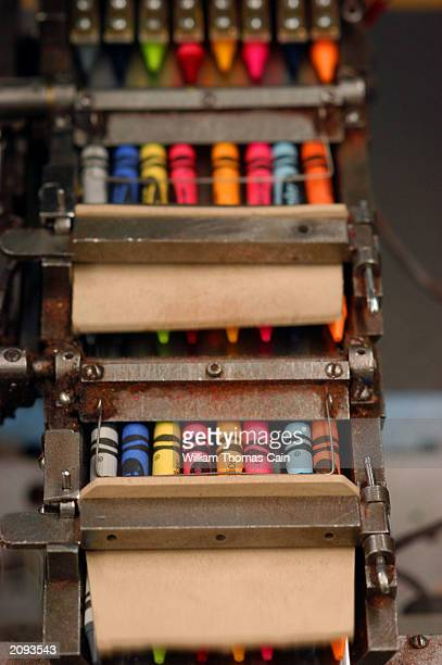Crayons are packaged by machine at Binney and Smith Inc the manufacturer of Crayola crayons June 18 2003 in Easton Pennsylvania Binney and Smith is...