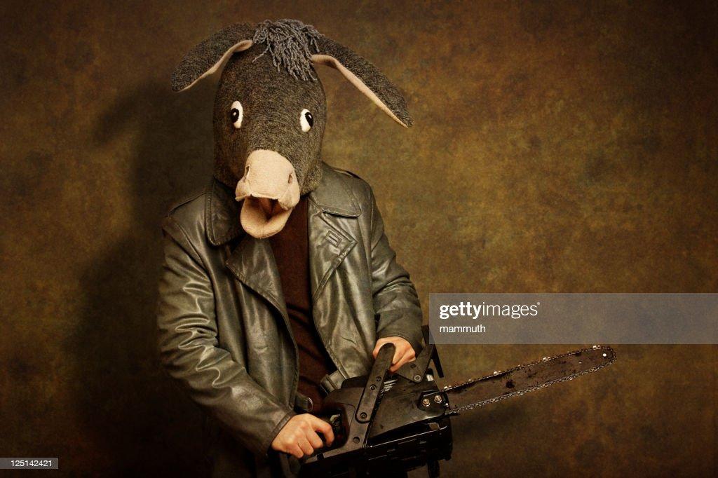 crazy donkey serial killer : Stock Photo