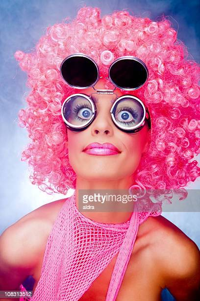 Crazy freche rosa Mädchen
