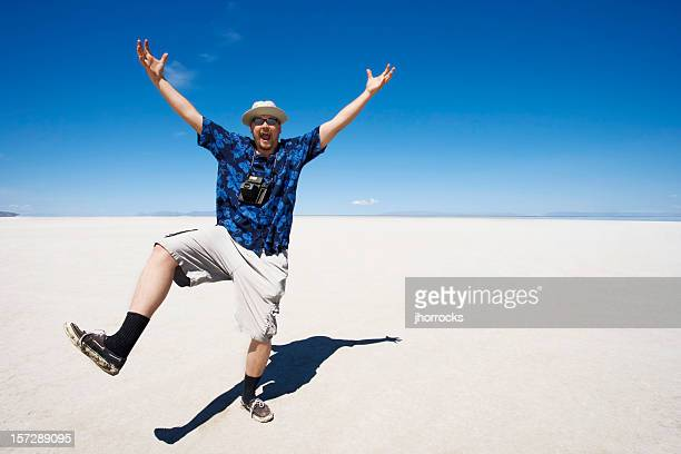 Crazy heureux touristes
