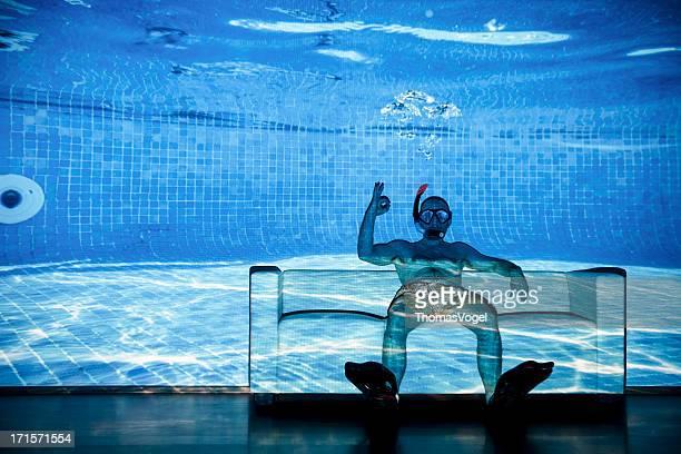 Crazy hogar buceo de la piscina