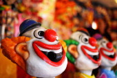 A crazy laughing clown is seen in the carnival area during the 2012 Sydney Royal Easter Show at the Sydney Showground on April 5 2012 in Sydney...