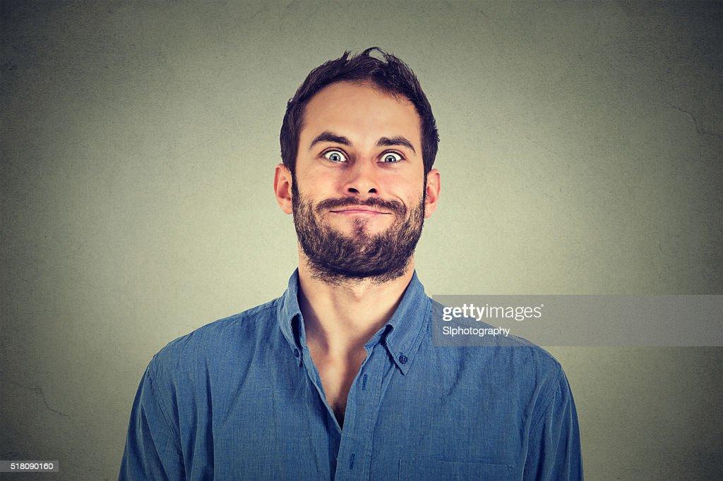 Funny looking man