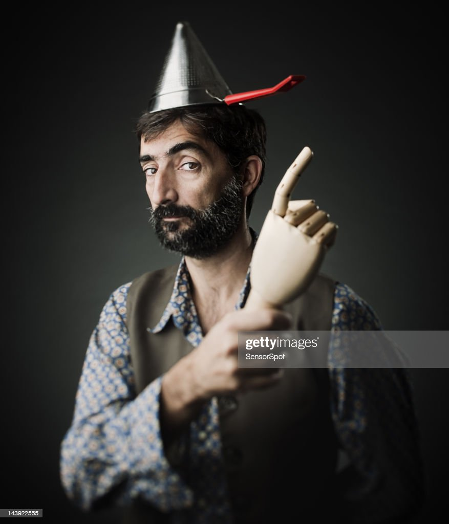 Crazy man : Stock Photo