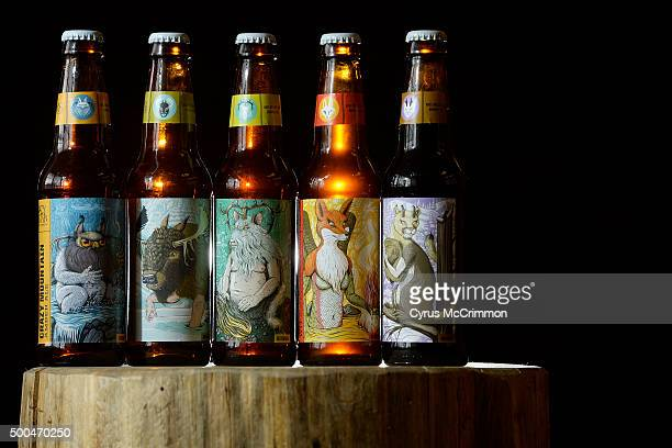 Crazy Mountain Brewery has revamped it's bottle labels these are some of the new ones left to right Crazy Mountain Amber Ale Hookiebobb IPA Mountain...