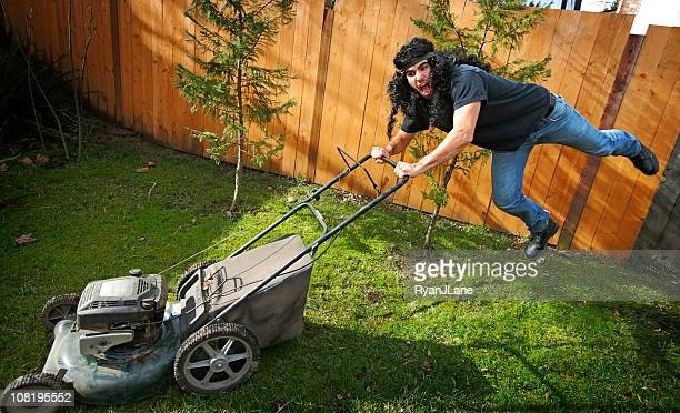 Crazy Rock and Roll Lawn Mower Man