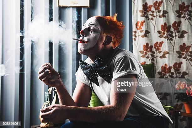 Fond effrayant clown