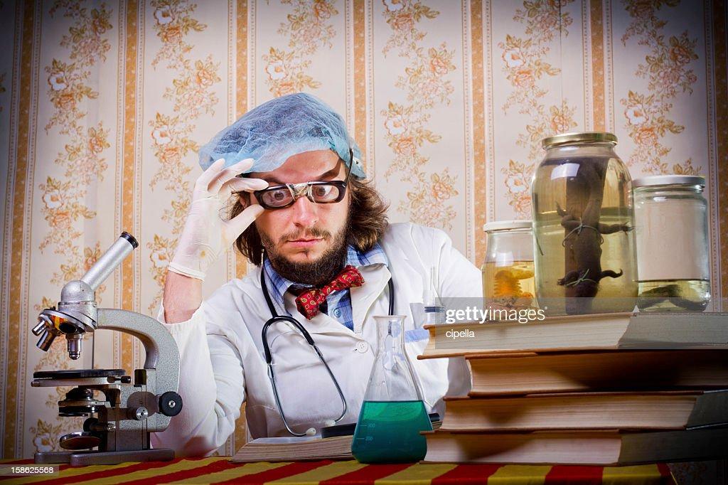 Crazy scientist : Stock Photo