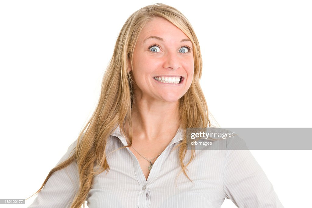 Crazy Smiling Woman : Stock Photo