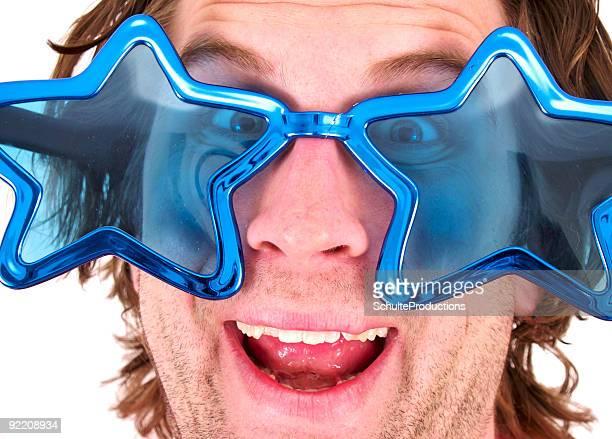 crazy star glasses