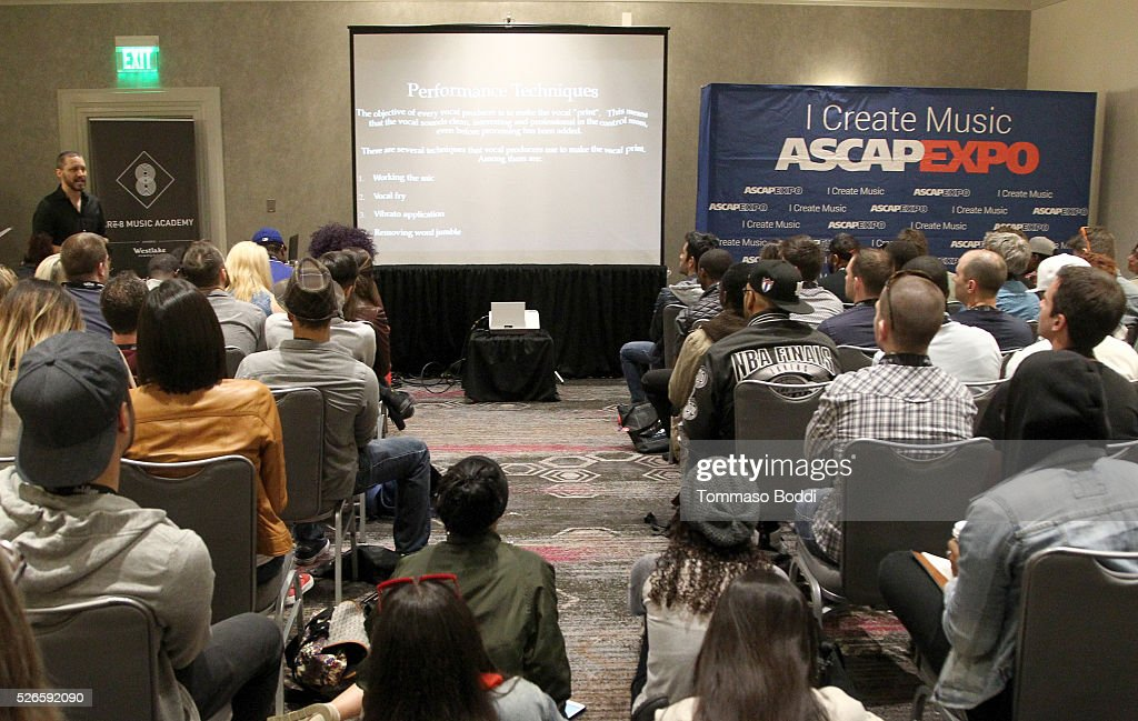 Cre8 Music Academy representative Doug Fenske leads a sponsor session during the 2016 ASCAP 'I Create Music' EXPO on April 30, 2016 in Los Angeles, California.