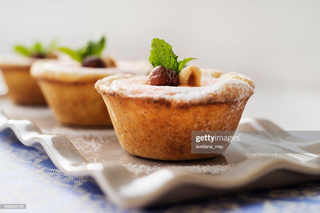 Cream cheese tarts : Stock Photo